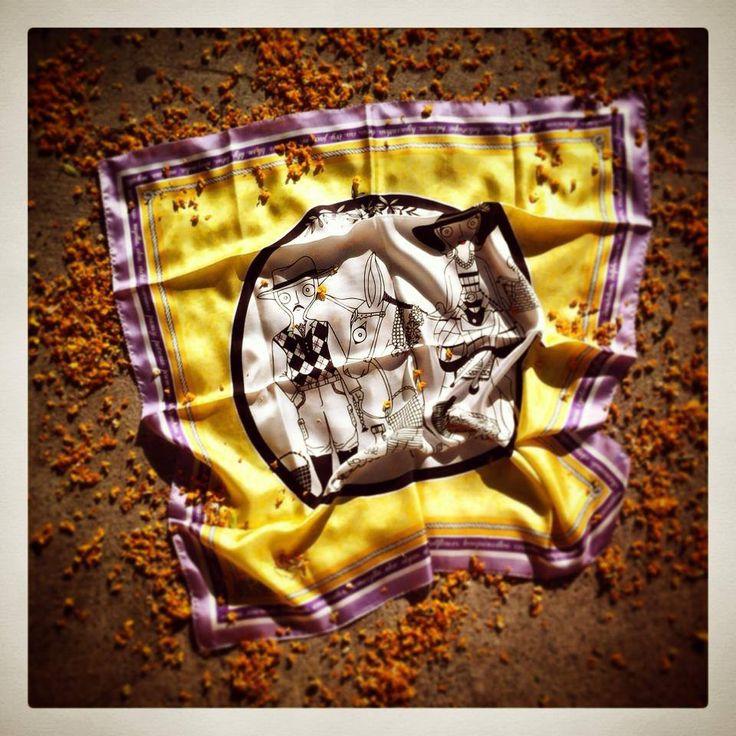 """Grecian Provence"" silk scarf by Grecian chic!"