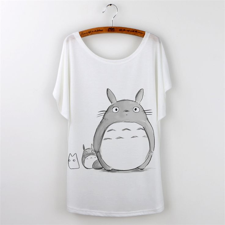Totoro Animal Print T Shirt Women Tops 2015 tshirt Harajuku Short Sleeve poleras de mujer camisetas White Casual Tee Shirt Femme