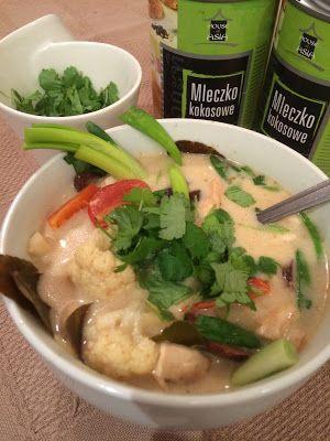Jemy Pijemy : Tom kha z kurczakiem. Tajska zupa kokosowa z kurcz...