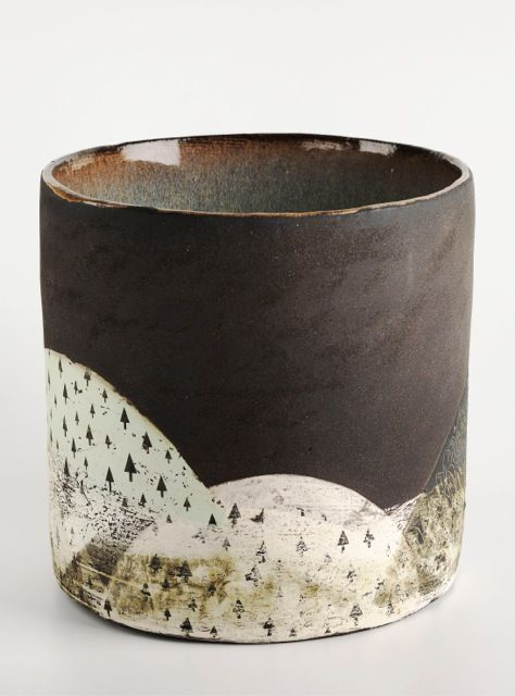 abstract pottery, Green Hill, Julia Smith Ceramics