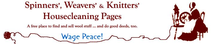 Spinners', Weavers' & Knitters Housecleaning pages