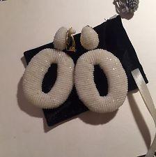 O в форме с бисером серьги пристегивающийся ручной работы оскар де ля рента стиль