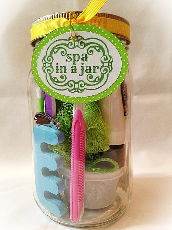Spa In a Jar Bath Body and Beauty Set by MudPuddlesAndPearls, $12.95