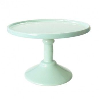 Minty Green Footed Cake Plate (medium)