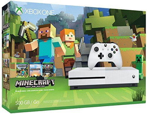 Xbox One S 500GB Console - Minecraft Bundle - http://www.amazon4all.net/xbox-one-s-500gb-console-minecraft-bundle/