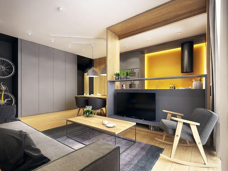 moderne zwei zimmer wohnung - Stil Wohnung