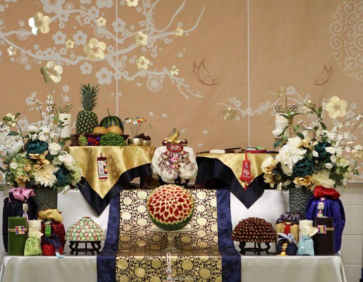 Korean traditional 1st birthday setting