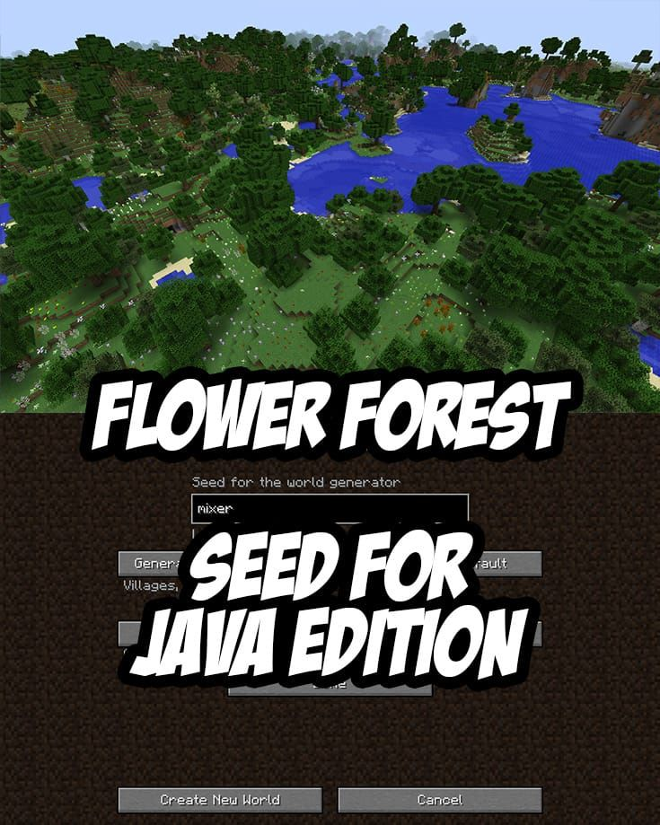 Flower Forest Seed for Minecraft Java Edition:mixer