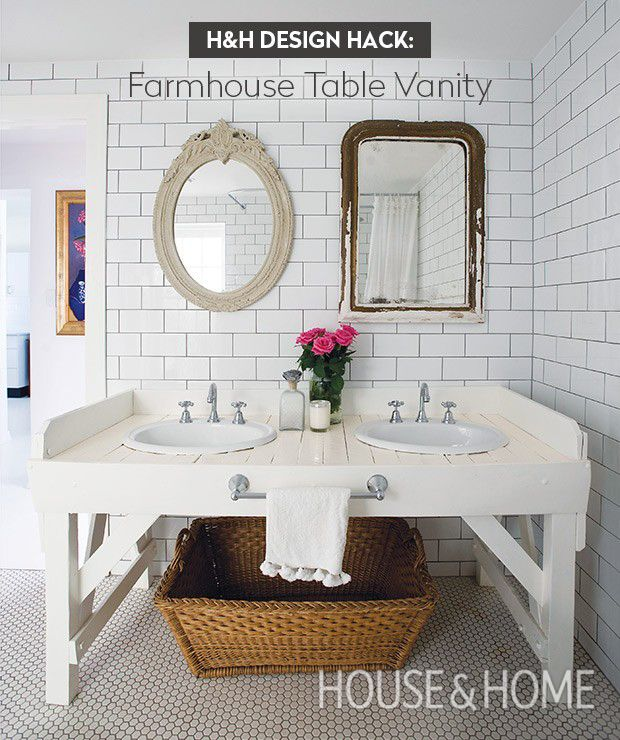 Good Home Design Hack Part - 12: Table Vanity Design Hack For Your Bathroom