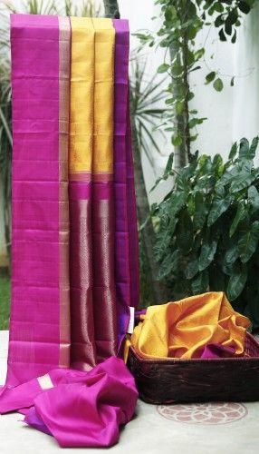 Anyone - Tam Wedding Saree  Lakshmi Handwoven Kanjivaram Silk Sari 000229 - Bridal / Wedding Saris - Parisera