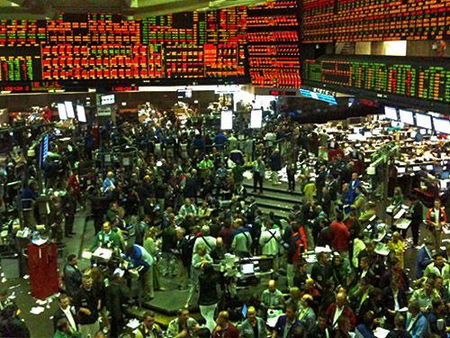 corn pit --- cbot trading floor