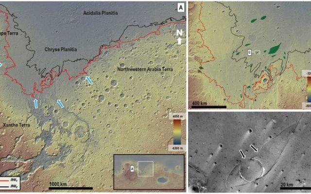 """Trovate prove di mega-tsunami su Marte come conseguenza dell'impatto di grossi meteoriti In un articolo pubblicato sulla rivista """"Nature"""" viene presentata una ricerca che descrive due possibili mega-tsunami che sconvolsero la superficie del pianeta marte oltre tre miliardi di anni fa. #tsunami #marte"""
