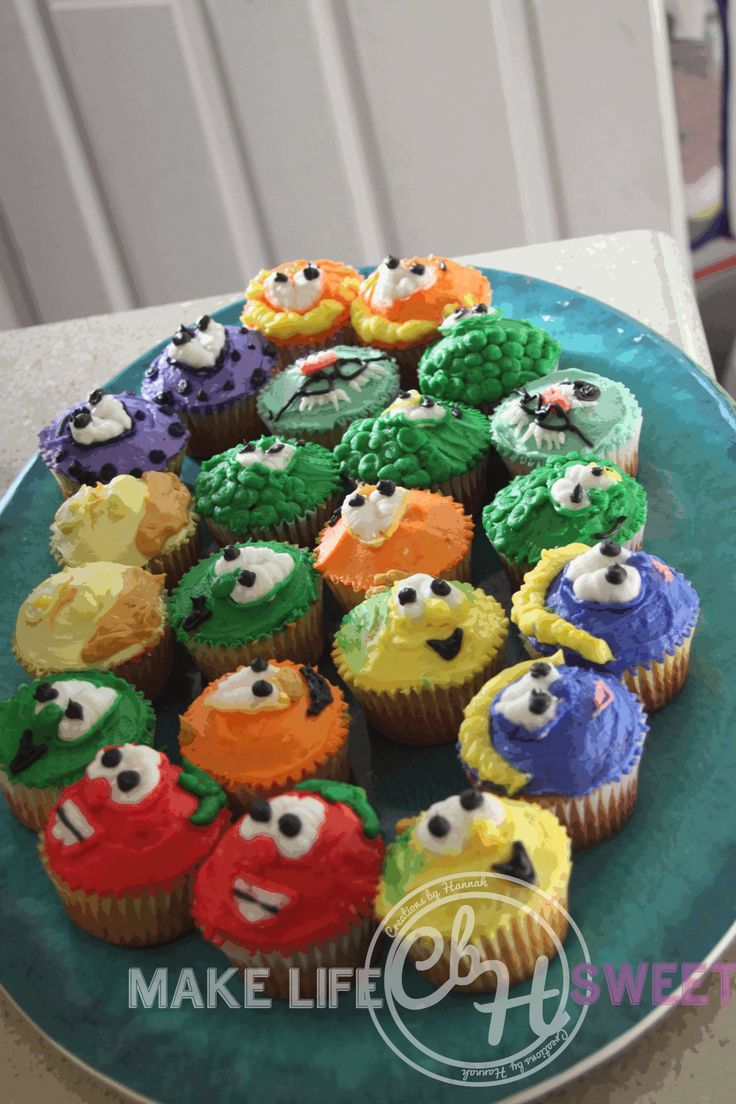 Veggie Tales Cupcakes // eat your veggies and order a custom batch of cupcakes! www.facebook.com/creationsbyhannah