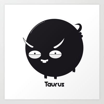 FAT ZODIAC (TAURUS) Art Print