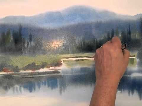 Sarah Yeoman Watercolor Painting Wet In Wet Demo Video Ii