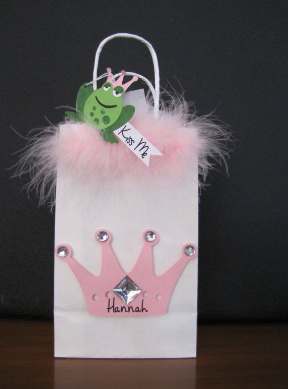 Princess Gift Bag with frog tag by wohelo on Etsy, $15.00