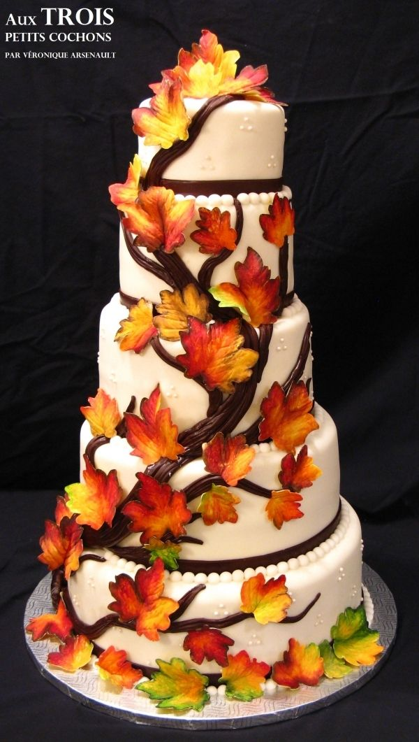 fall wedding cake pictures 256 best cakes fall images on petit fours 14164