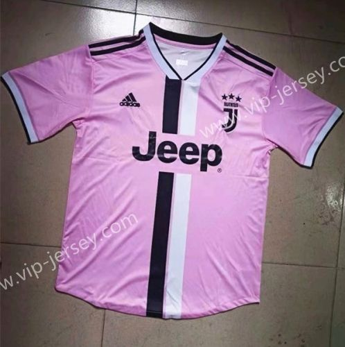 new styles 271e4 5382c Retro Version 2019-20 Juventus Pink Thailand Soccer Jersey ...