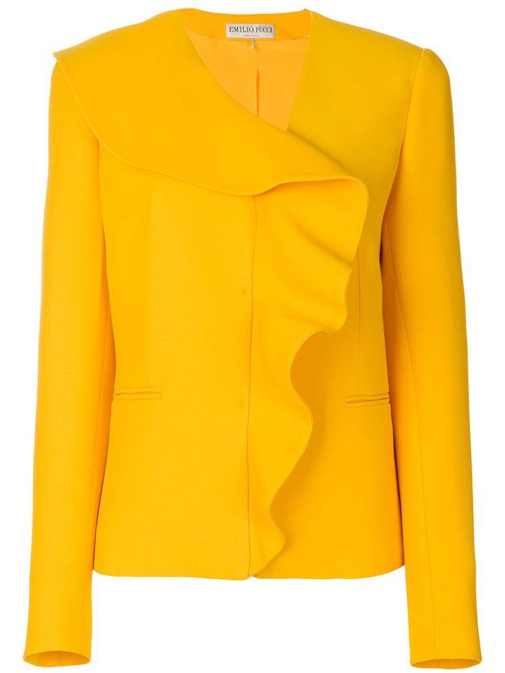 ¡Consigue este tipo de americana de EMILIO PUCCI ahora! Haz clic para ver los detalles. Envíos gratis a toda España. Emilio Pucci - Frill-Embroidered Blazer - Women - Silk/Wool - 44: Yellow wool-silk blend frill-embroidered blazer from Emilio Pucci. Size: 44. Color: Yellow/orange. Gender: Female. Material: Silk/Wool. (americana, americana, blazer, americanas, blezer, frock-coat, jackett, blazers, veste de costume, americana, blazers)