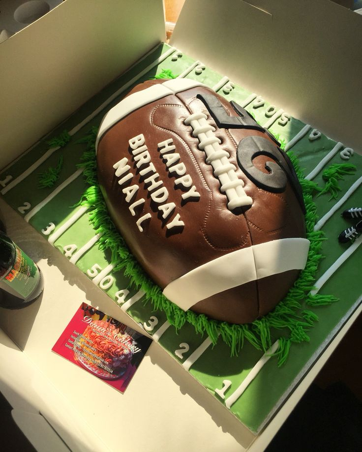 American Football Cake, Decorated and Created by myself. Will create a recipe and instructions soon.