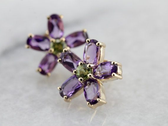 Hey, I found this really awesome Etsy listing at https://www.etsy.com/se-en/listing/504101051/amethyst-and-peridot-flower-earrings