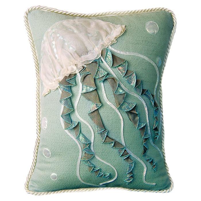 Jellyfish Pillow in Sea Foam