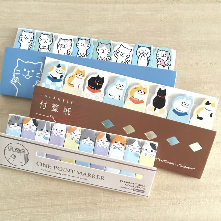 Lovely cat sticky note sets:) the beige one is newly added!