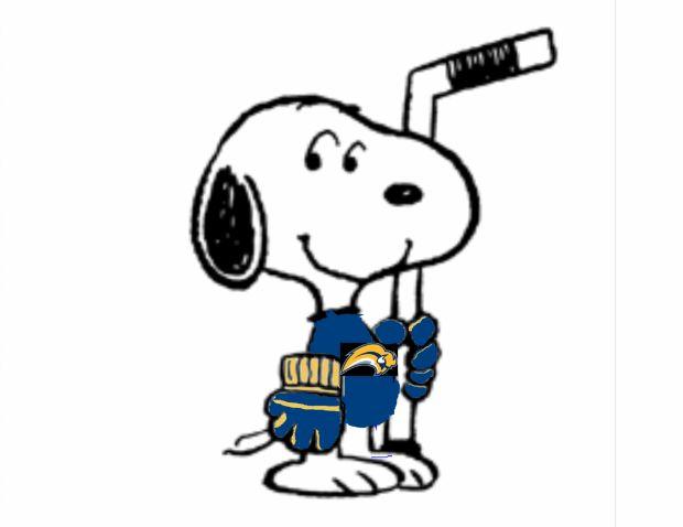 Snoopy Is A Buffalo Sabers Fan Snoopy Pinterest