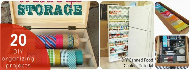 20 DIY Organizing Projects!: Organizations Projects, Organizations Ideas, Diy Home Ideas Organizations, Diy Organizations, Crafts Blog, Great Ideas, 20 Organizations, Diy Projects, 20 Diy