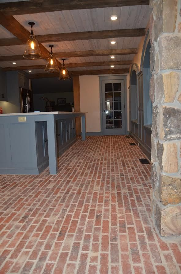 This Is A Second Picture Of The McGuire Kitchen, With Our Lancaster Running  Bond Brick