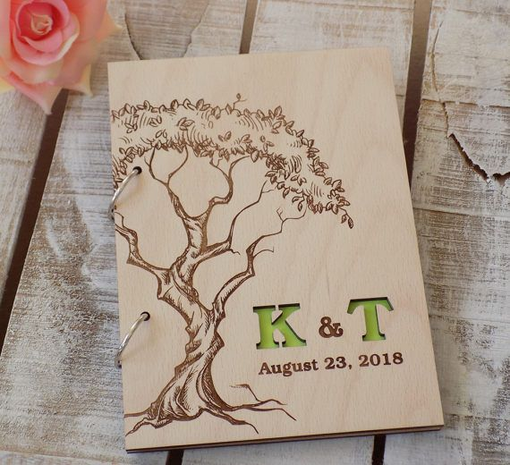 Wedding Guest Book Tree Custom Guest Book Unique Guest Book