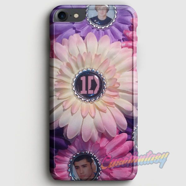 1D One Direction Logo Pink Flower iPhone 7 Case | casefantasy
