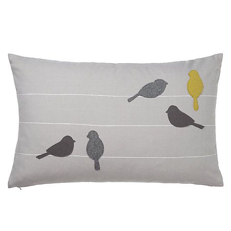 fun and cosy accesories - Buy John Lewis Birds on a Wire Cushion Online at johnlewis.com