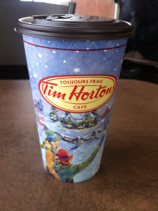 Tim Horton's Coffee is my source of relaxation