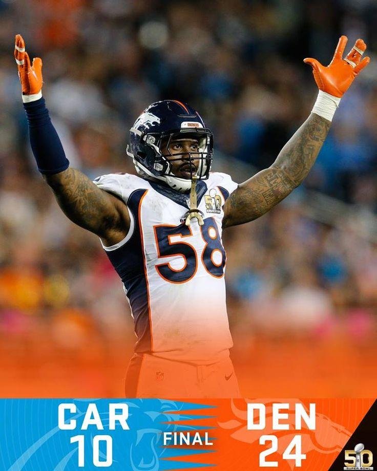 Super Bowl February 7, 2016 Final Score Carolina Panthers 10 Denver Broncos 24