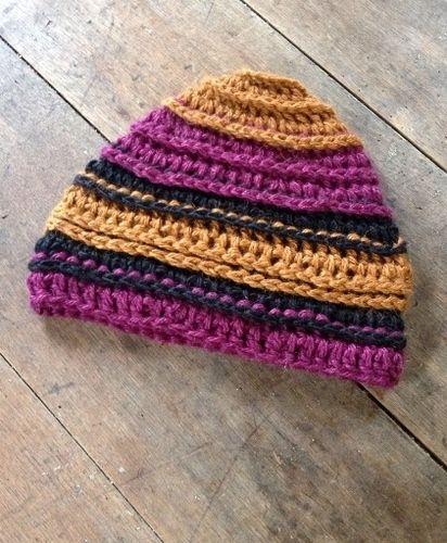 Striped Ridges Hat - Paca de Seda, $35.00