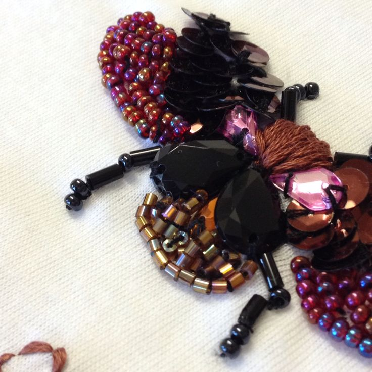 Beetle embroidery #bugs #insects