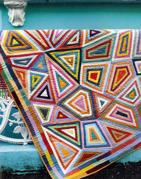 """""""African Collage"""" quilt, in : 'Kaffe Fasset Quilts: Shots and Stripes'"""