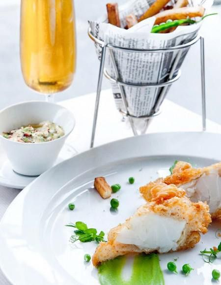 Le fish and chips version Ducasse - Elle