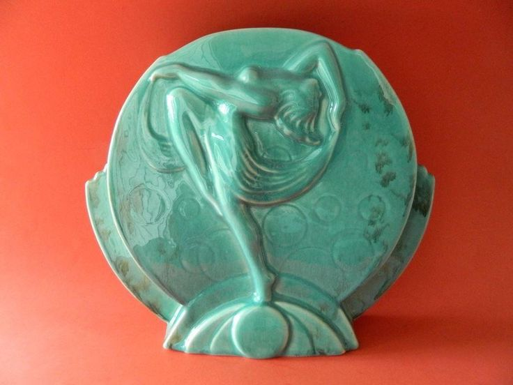 Beautiful Art Deco MCP Australian Pottery Ballet Dancer Wall or Table Vase