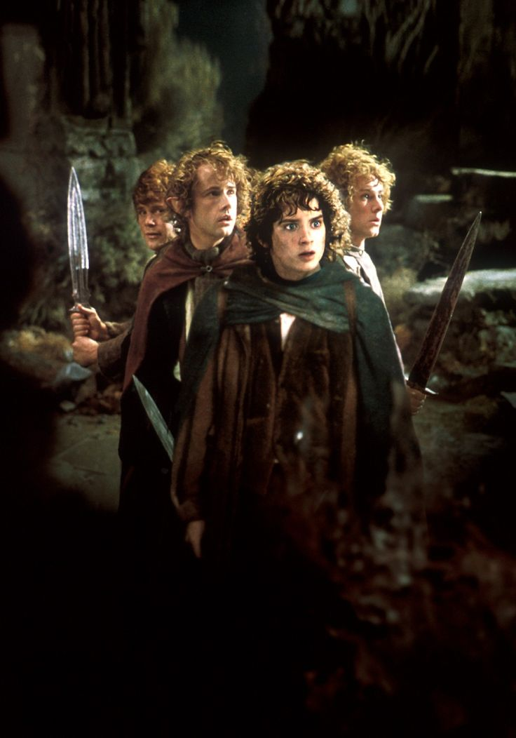 Elijah Wood; Sean Astin; Billy Boyd; Dominic Moynihan; Frodo; Sam; Pippin; Merry; Hobbits;  The Lord of the Rings;  pic #596538;