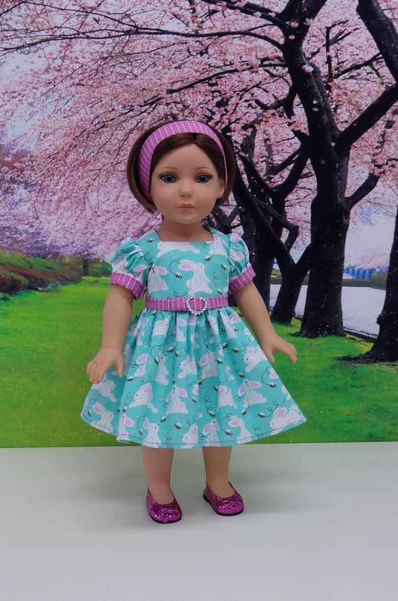 1278d86d34c March Hare vintage style dress for American Girl doll