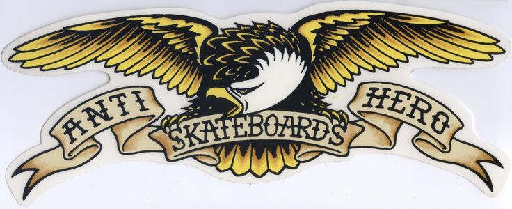 "Anti Hero Skateboards Eagle Logo Large 12"" Sticker.  To purchase click on the picture."
