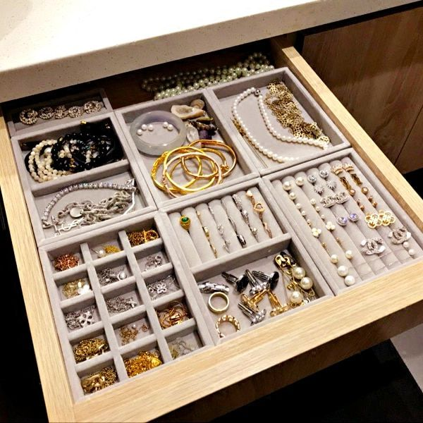 New Drawer Diy Jewelry Storage Tray Ring Bracelet Gift Box Jewellery Organizer Earring Holder Small Siz Diy Jewellery Drawer Jewelry Storage Diy Jewelry Drawer