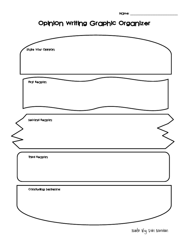 Opinion writing graphic organizer writing for Sandwich template for writing