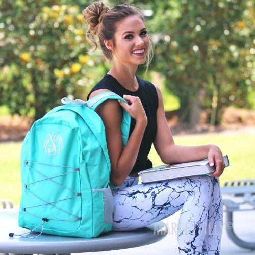Monogrammed Laptop Backpack   Marleylilly
