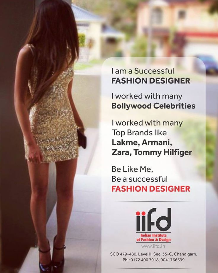 Be Like Me, Be a successful Fashion Designer  Join Indian Institute of Fashion Design (IIFD)  Contact Immediately IIFD for admission Get more info @ www.iifd.in  #iifd #chandigarh #best #fashion #designing #institute #chandigarh #mohali #punjab #design #admission