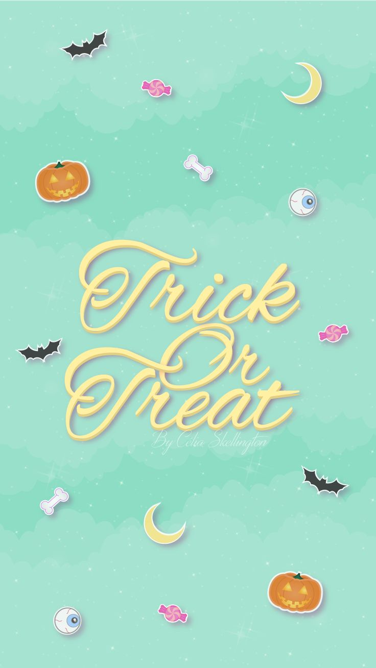 Halloween Trick or Treat iPhone Lock Wallpaper @PanPins