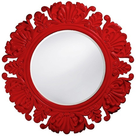 brilliant filigree red mirror