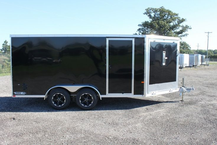 2015 Enclosed All Aluminum  7 x 18 Drive On/Off Snowmobile Trailer for Sale
